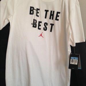 """NIKE Jordan White Men's """"Be the Best"""" T-Shirt"""